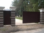 Откатные ворота из сэндвич-панелей, 3700х2000