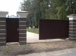 Откатные ворота из профнастила, 4500 х 2300