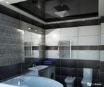 Натяжной потолок в ванну 7 м2