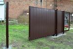 Откатные ворота стальные для проема 4000*2000
