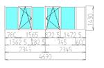 Остекление лоджии 4690 х 1430