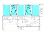 Остекление лоджии 4280 х 1370