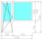 Балконный блок в панельный дом (3-камерный профиль)